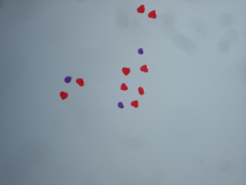 ballonnen crematie baby